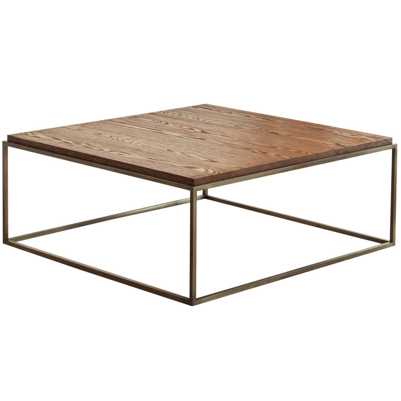 Made To Order Distressed Oak Wood Coffee Table At 1stdibs. Full resolution  photo, nominally Width 1280 Height 1280 pixels, photo with #412C1F.