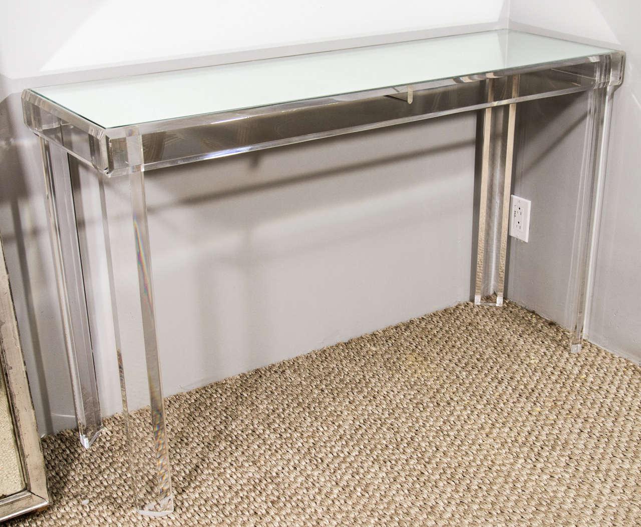Phenomenal Lucite Console Table At 1Stdibs Spiritservingveterans Wood Chair Design Ideas Spiritservingveteransorg