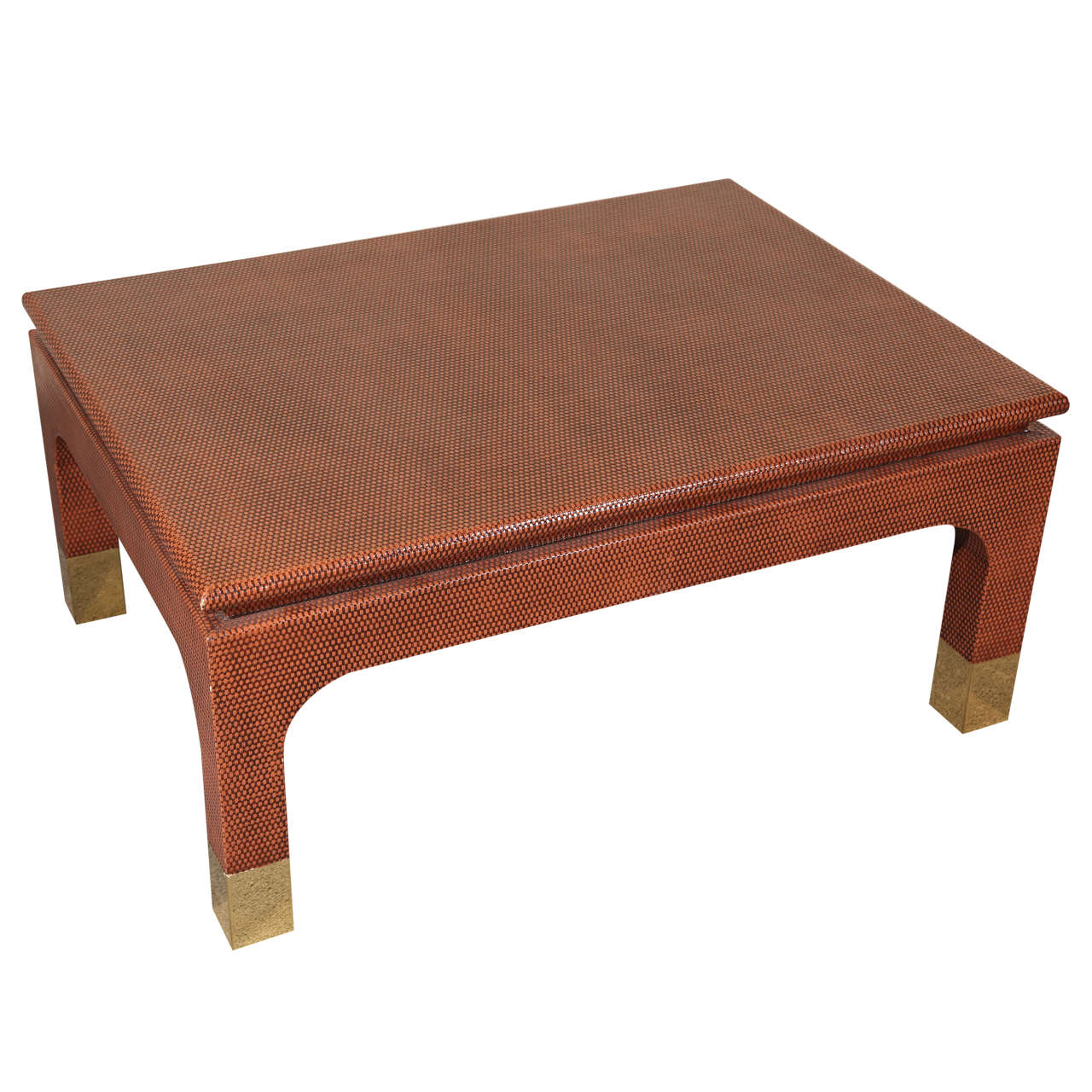 Grass Cloth Coffee Table By Steve Chase At 1stdibs