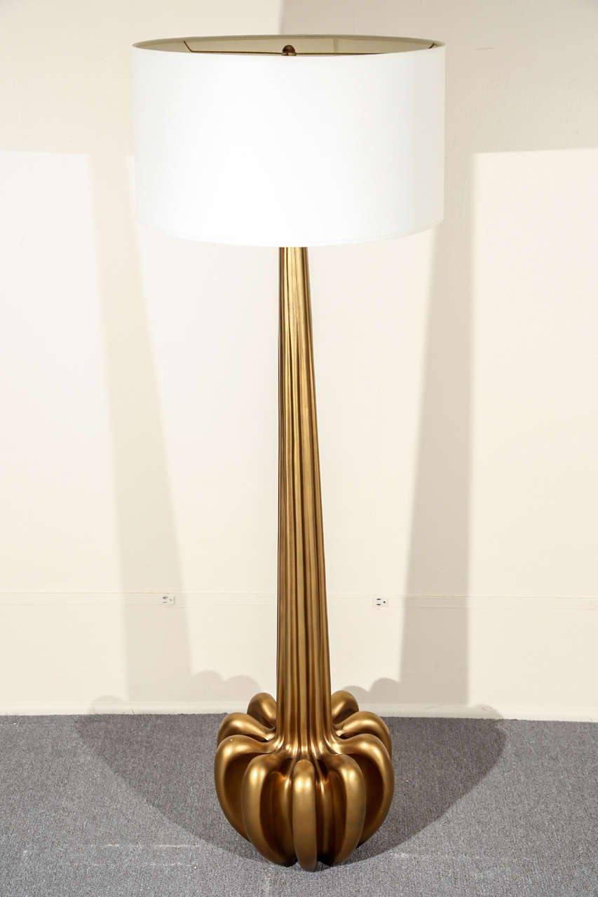 Stunning Gold Floor Lamp At 1stdibs