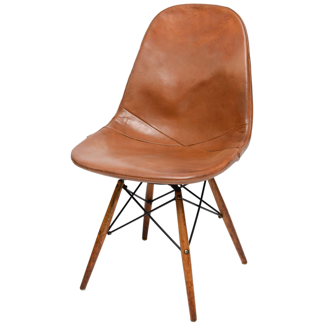 "Eames Chair Leather early ""eiffel tower"" chaircharles and ray eames for herman"