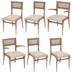 Set of Six Dining Chairs by Carlo di Carli