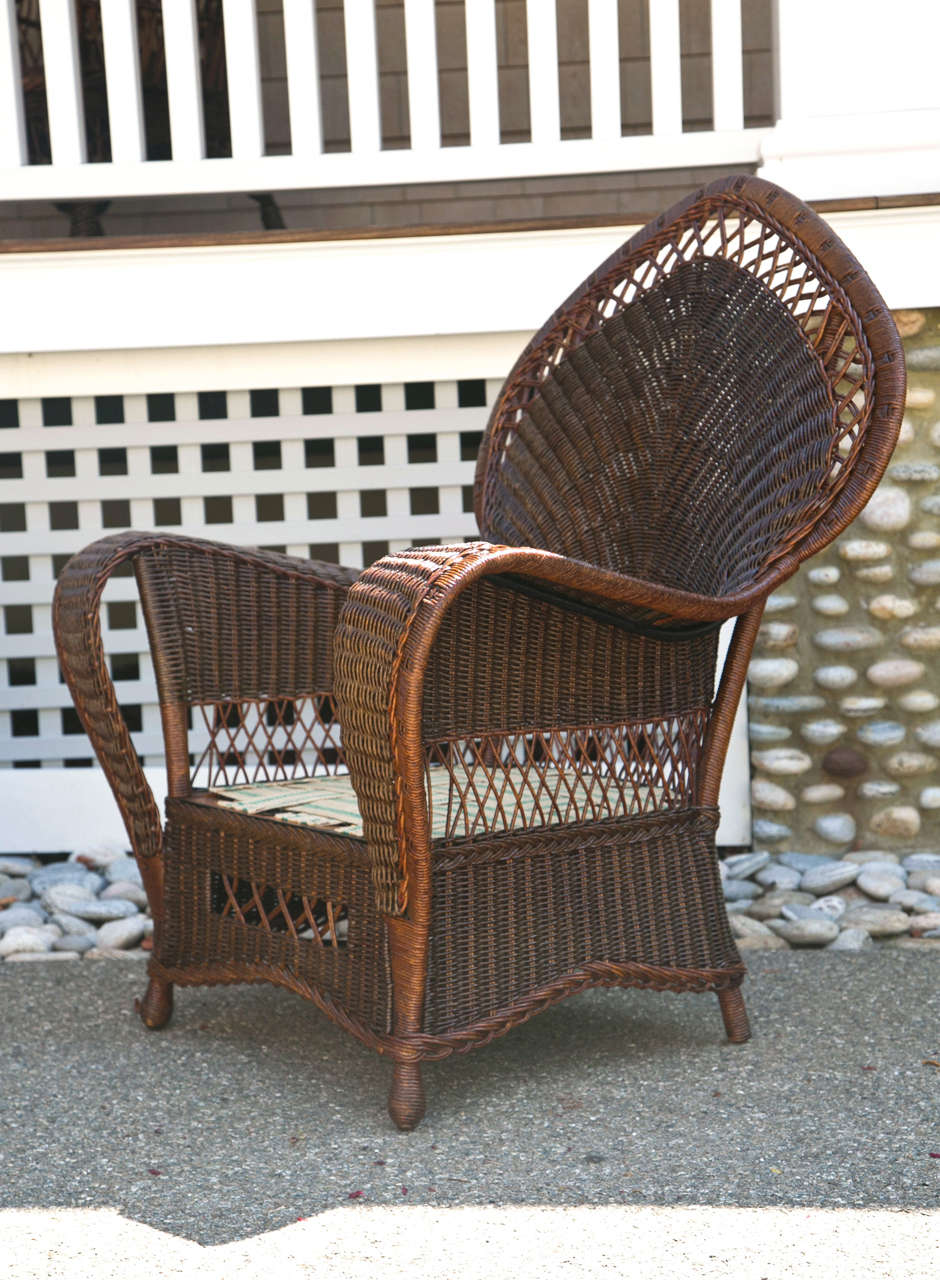 antique wicker chairs and sofa at 1stdibs. Black Bedroom Furniture Sets. Home Design Ideas