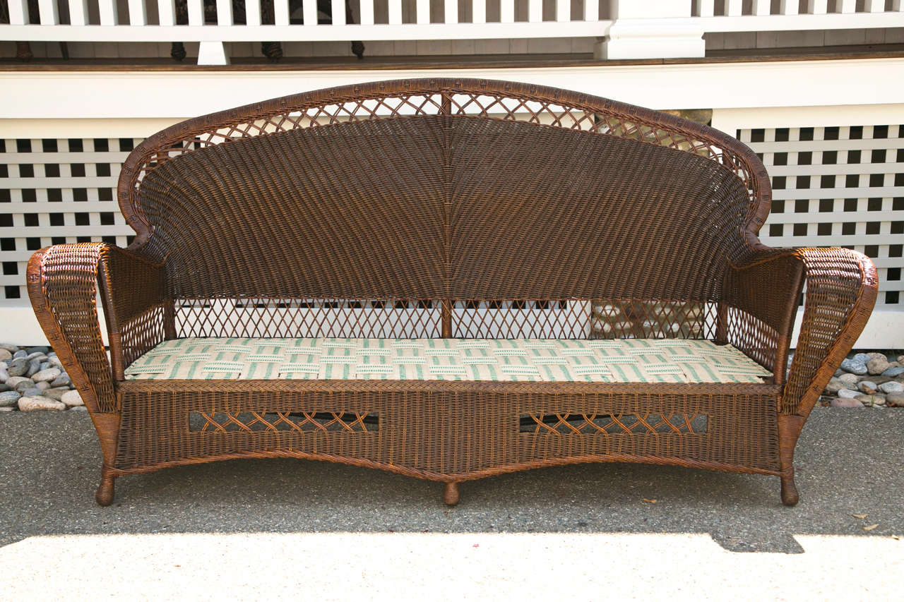antique wicker sofa and chairs at 1stdibs