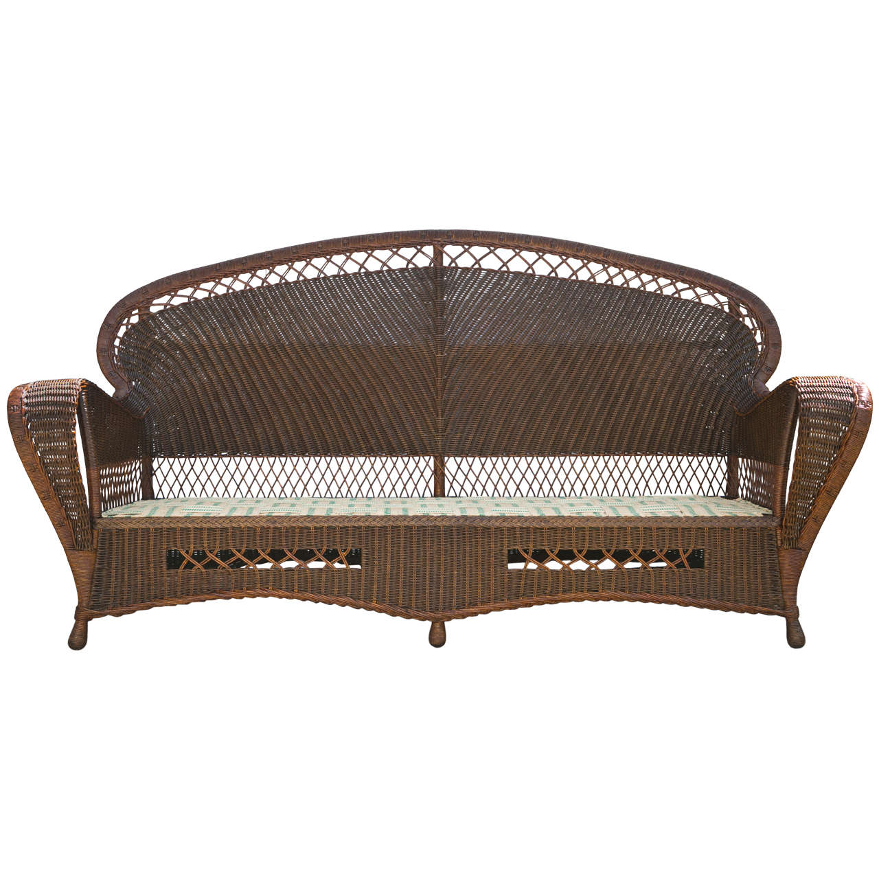 antique wicker sofa and chairs at 1stdibs. Black Bedroom Furniture Sets. Home Design Ideas