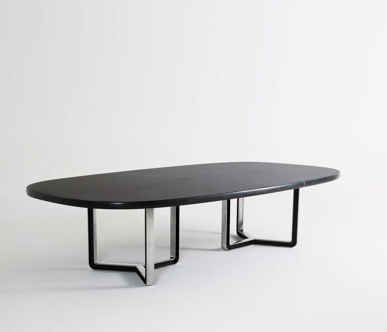 Tecno Design Centre Large Black Conference Table For Sale At Stdibs - Large oval conference table