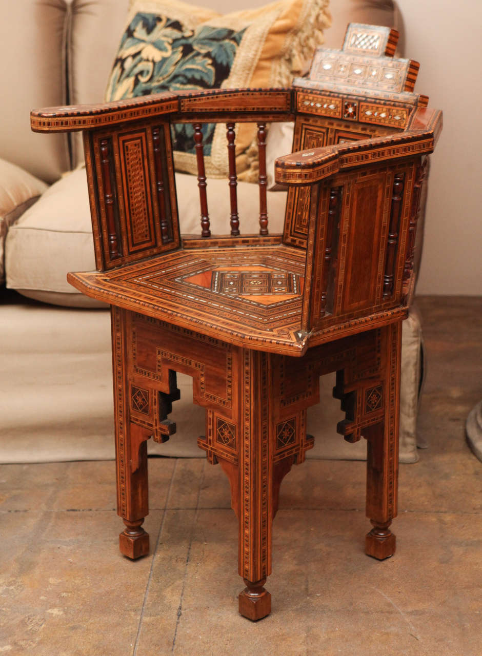 cheap moroccan furniture pair of motherofpearl inlay moroccan chairs for sale at 1stdibs