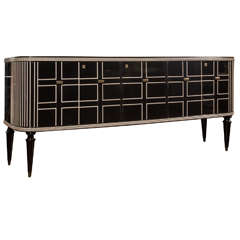 Large Black Lacquered Sideboard