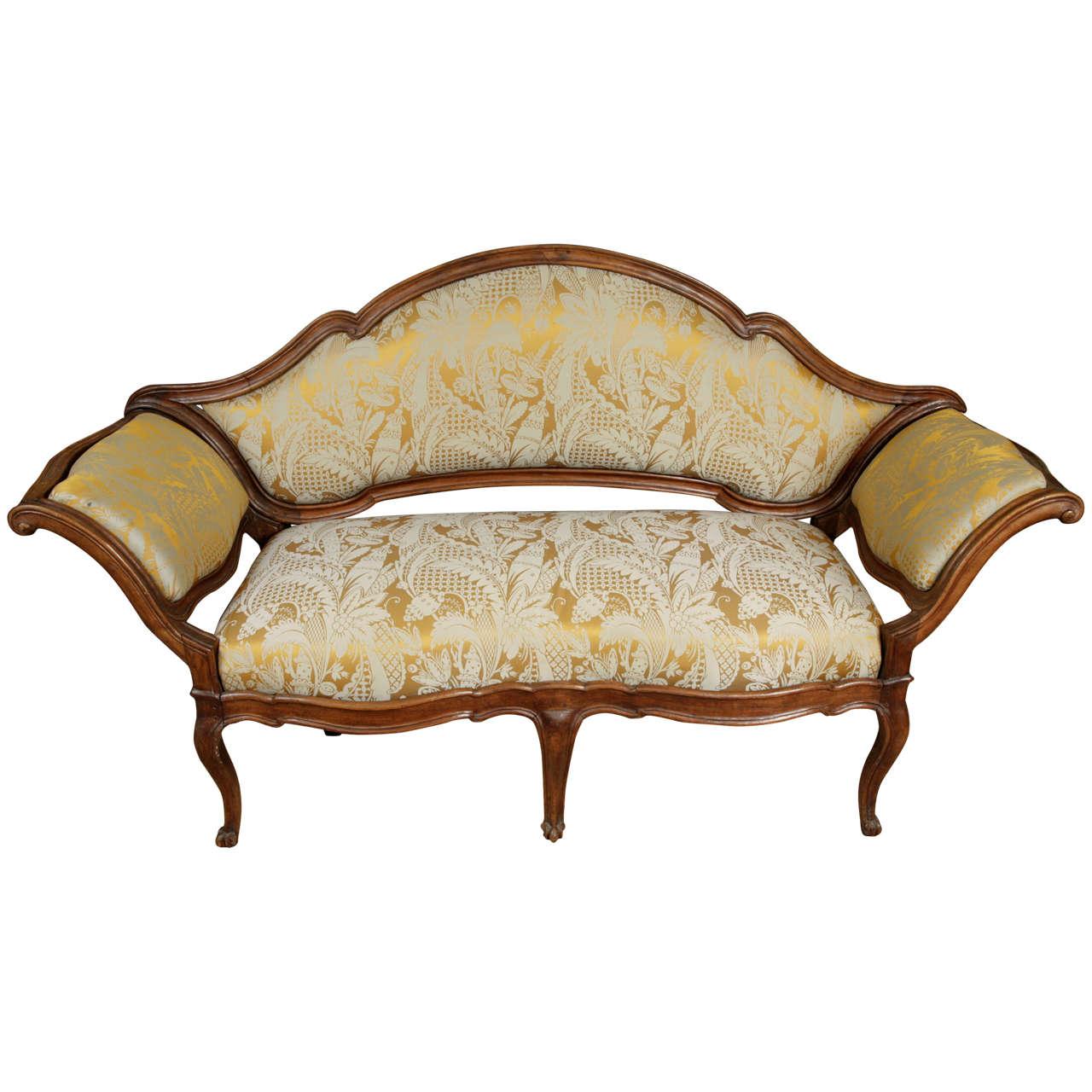 Mid-18th Century Italian Chestnut Sofa