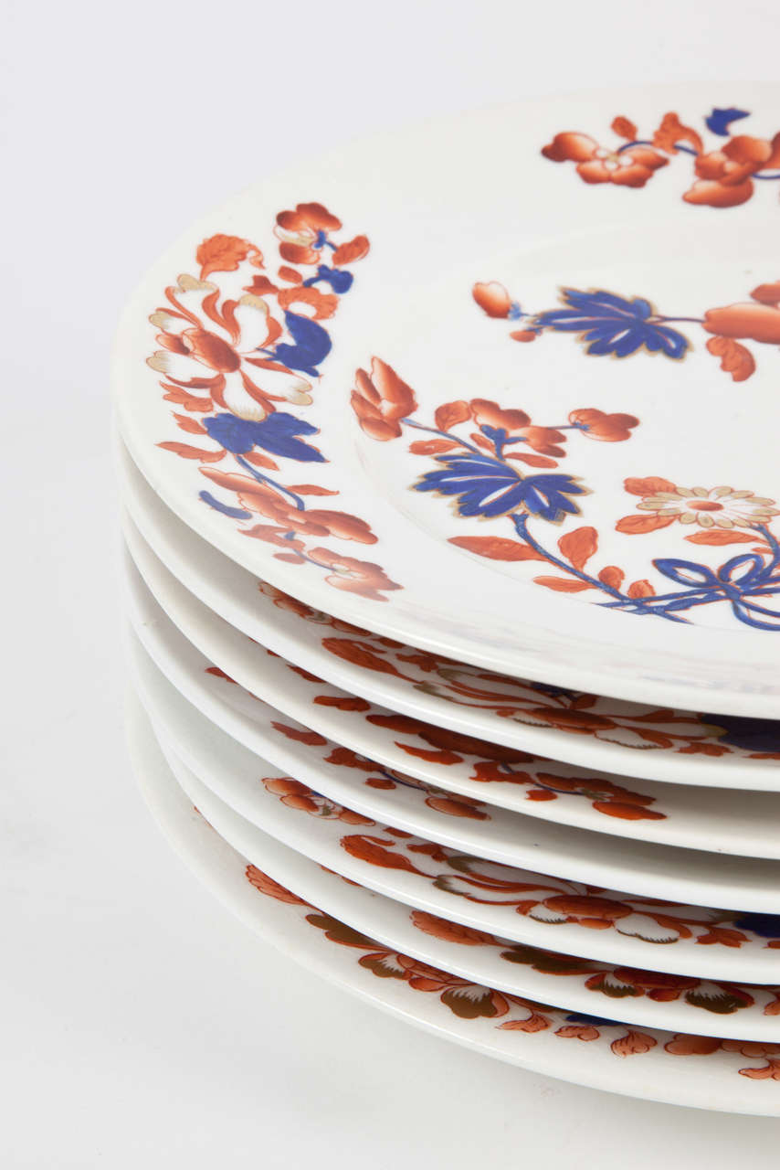 19th Century Set of Eight Chamberlain's Worcester Regent Dessert or Salad Plates For Sale