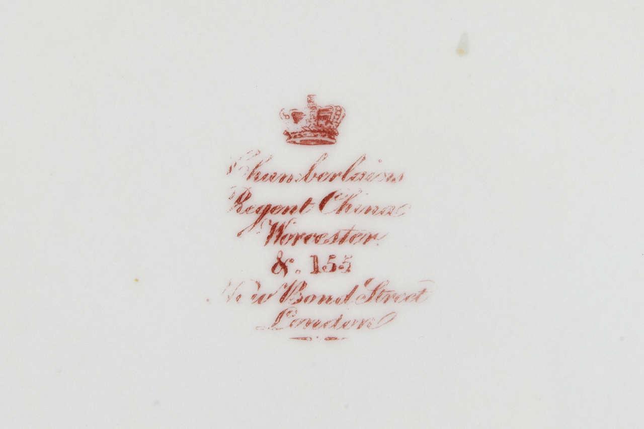 Porcelain Set of Eight Chamberlain's Worcester Regent Dessert or Salad Plates For Sale