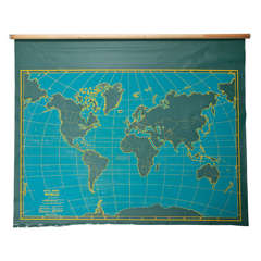 Vintage Roll Up Map by Denoyer Geppart