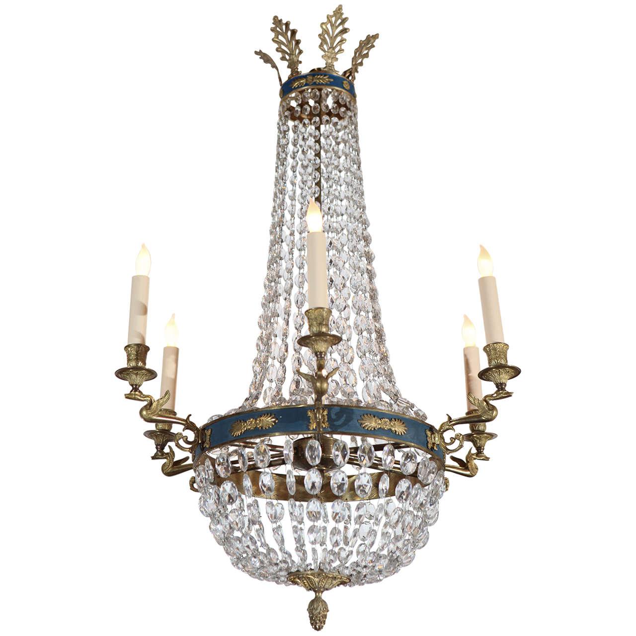 Euro Chandelier Lighting: Neoclassical Crystal European Chandelier At 1stdibs