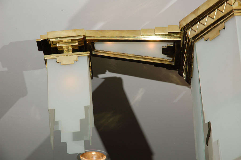 Plafonnier Light Fixture Attributed to Gagneau at 1stdibs
