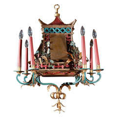 Painted Pagoda Chandelier