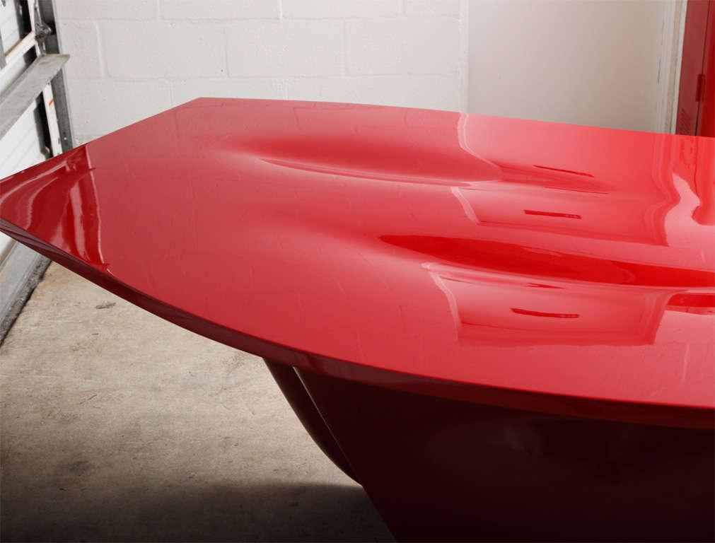 Zaha Hadid Red Aqua Table At 1stdibs
