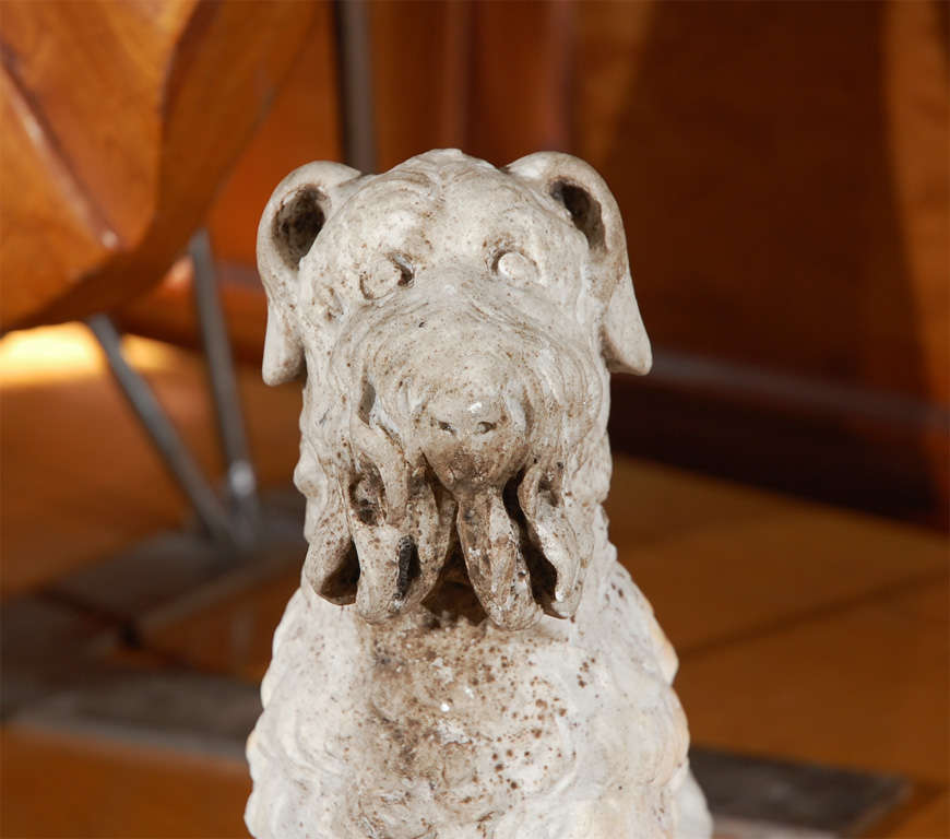 Unknown Marble Seated Dog For Sale