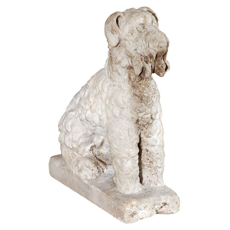 Marble Seated Dog For Sale