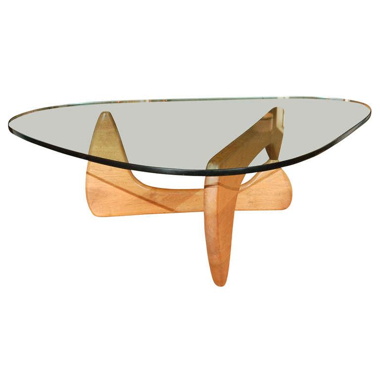 Vintage Noguchi Glass Top Coffee Table At 1stdibs