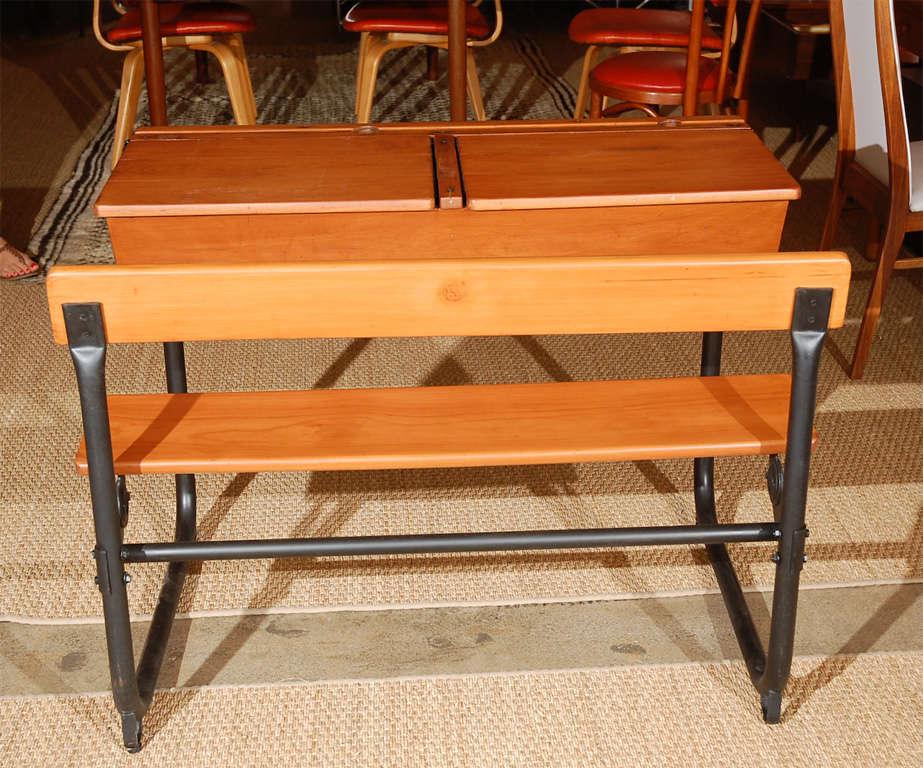 Vintage Two Seater School Desk At 1stdibs