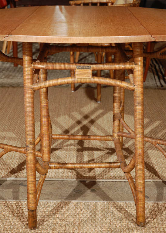 Heywood Wakefield Dropleaf Dining Table At 1stdibs