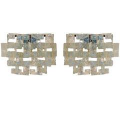 Pair of Murano Sconces by Carlo Nason