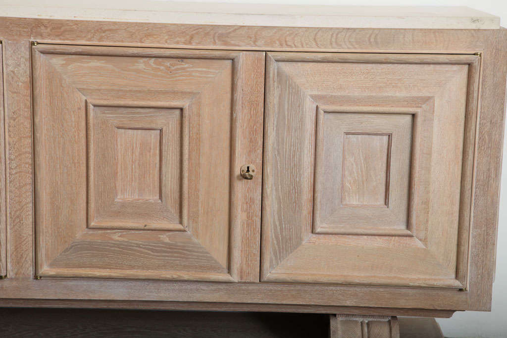 Pair of Limed-Oak Four Door Cabinets image 7