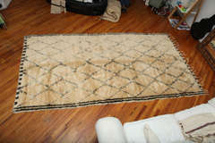Antique Beni Ourain Rug #1 thumbnail 2