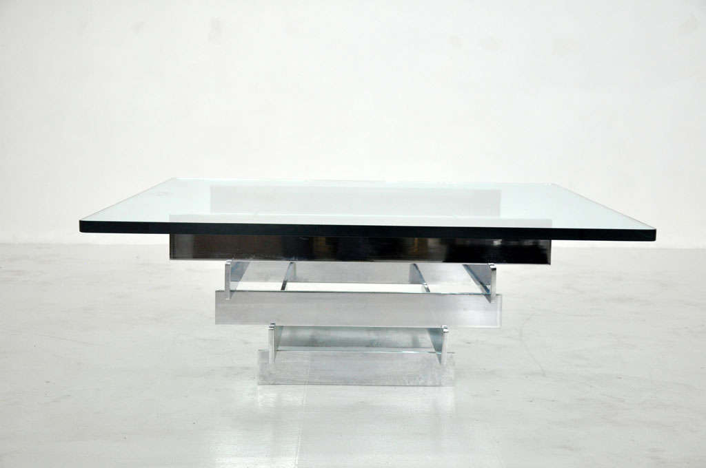 American Paul Mayan Chrome Cocktail Table