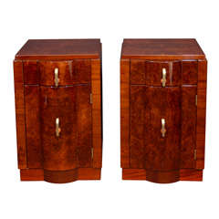 Pair of Machine Age Nightstands