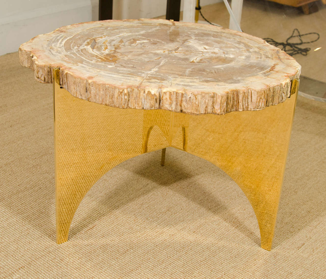 A Petrified Wood and Bronze Occasional Table 3