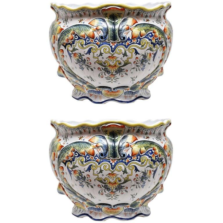 Pair of Rouen Jardinieres For Sale