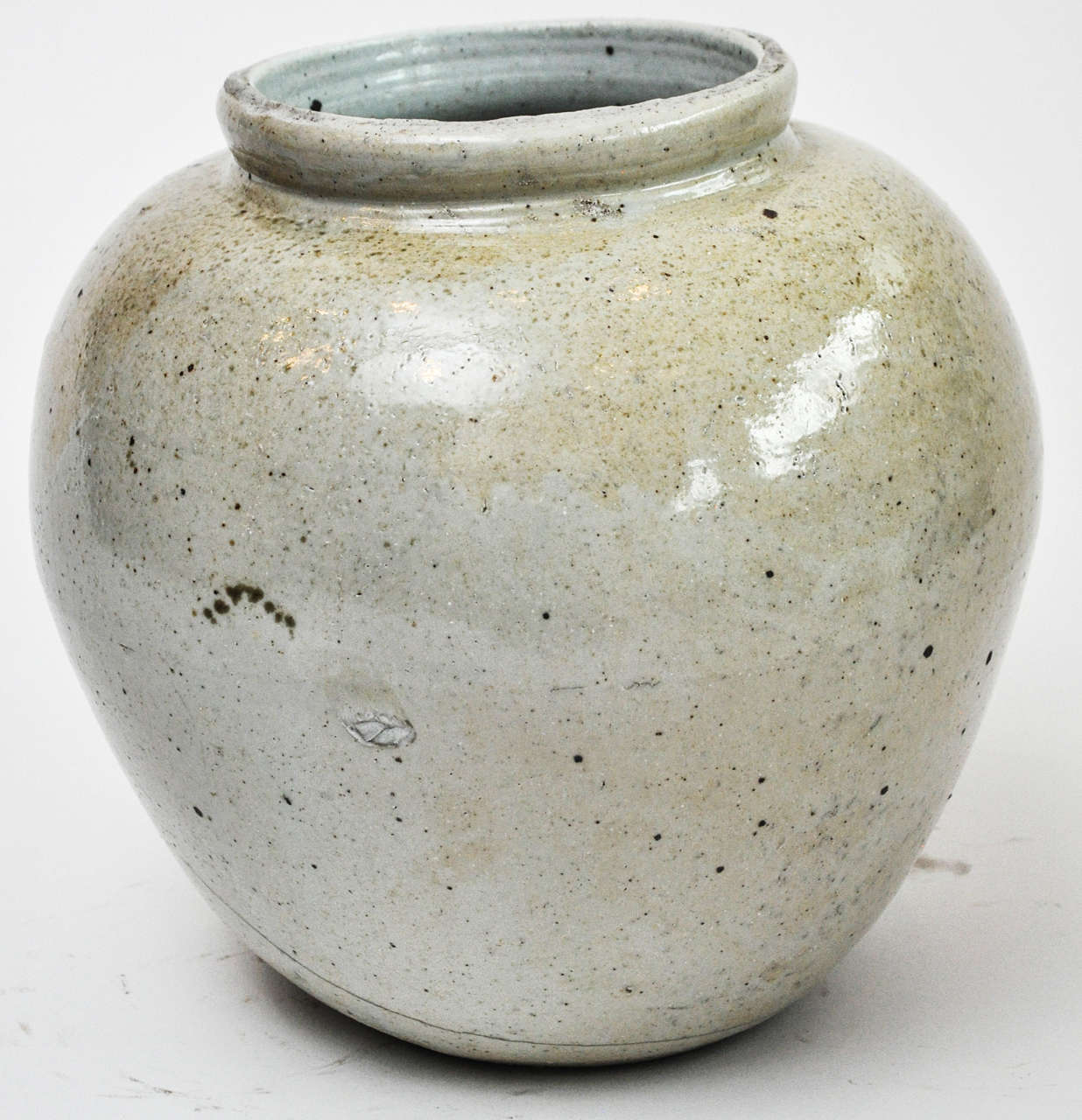 Large Korean Jar With Buff Glaze At 1stdibs