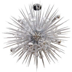 Custom Crystal Sputnik Chandelier with Spikes