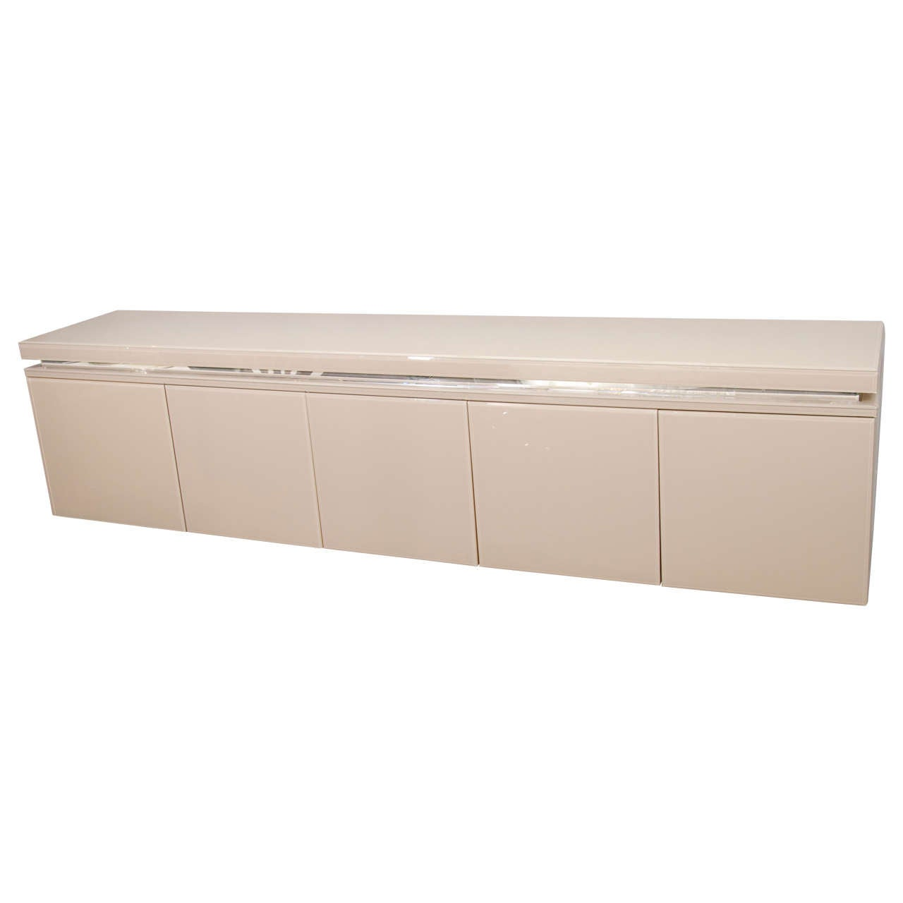 Reverse Painted Glass Sideboard