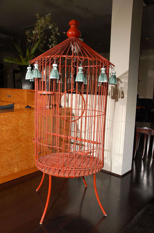 Tony Duquette Floor Bird Cage image 7