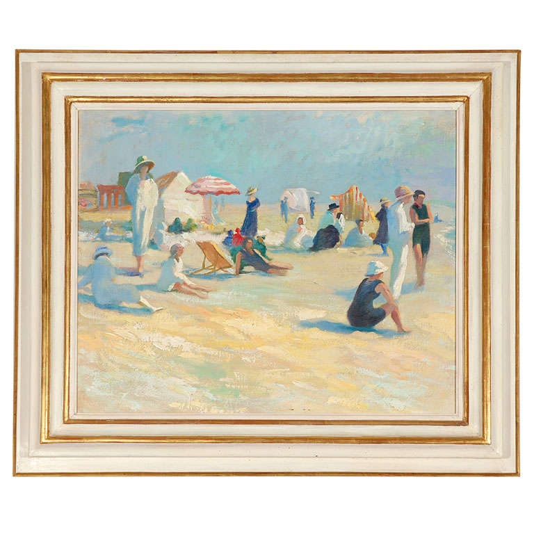 Art Deco Beach Lifestyle Painting by Martin Lindenau