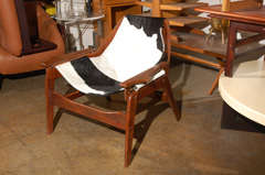 Rare Jerry Johnson cow hide sling chair image 2