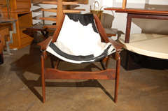 Rare Jerry Johnson cow hide sling chair image 3