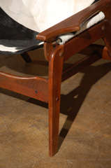 Rare Jerry Johnson cow hide sling chair image 4