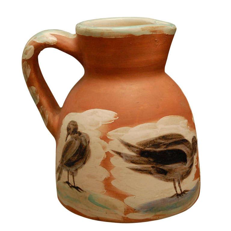 Original Pablo Picasso ceramic pitcher, Madoura signed