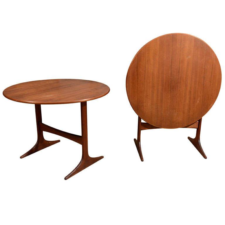 Pair of Swedish Teak Tilt Top Side Tables by Engstrom Mystrand