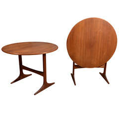 Pair of Swedish Teak Tilt Top Side Tables by Engstrom Mystrand