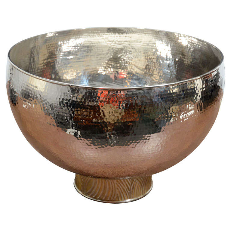 Marcius centerpiece bowl in nickel plate at stdibs