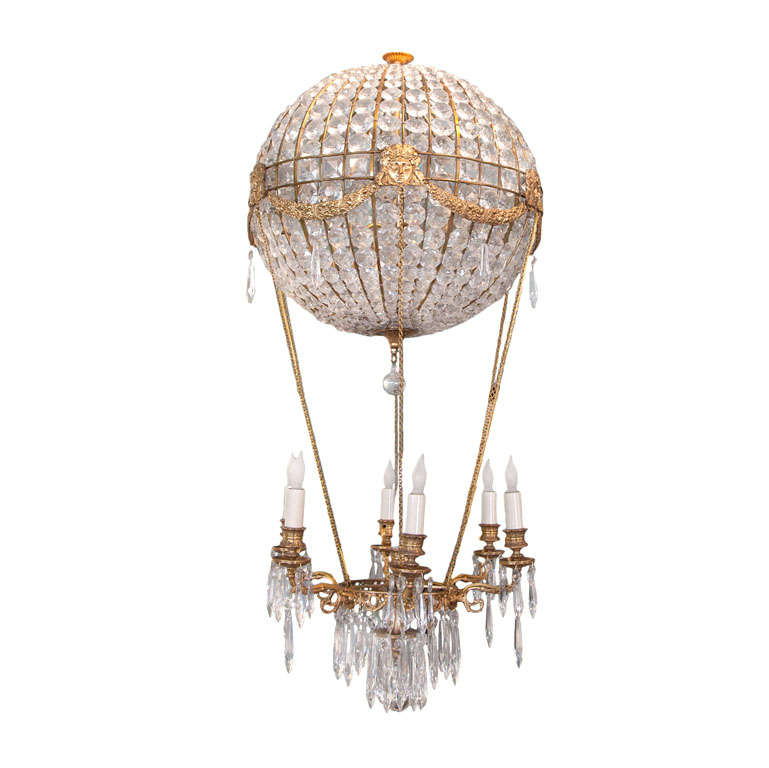 1940s italian crystal hot air balloon chandelier at 1stdibs for Balloon chandelier decoration
