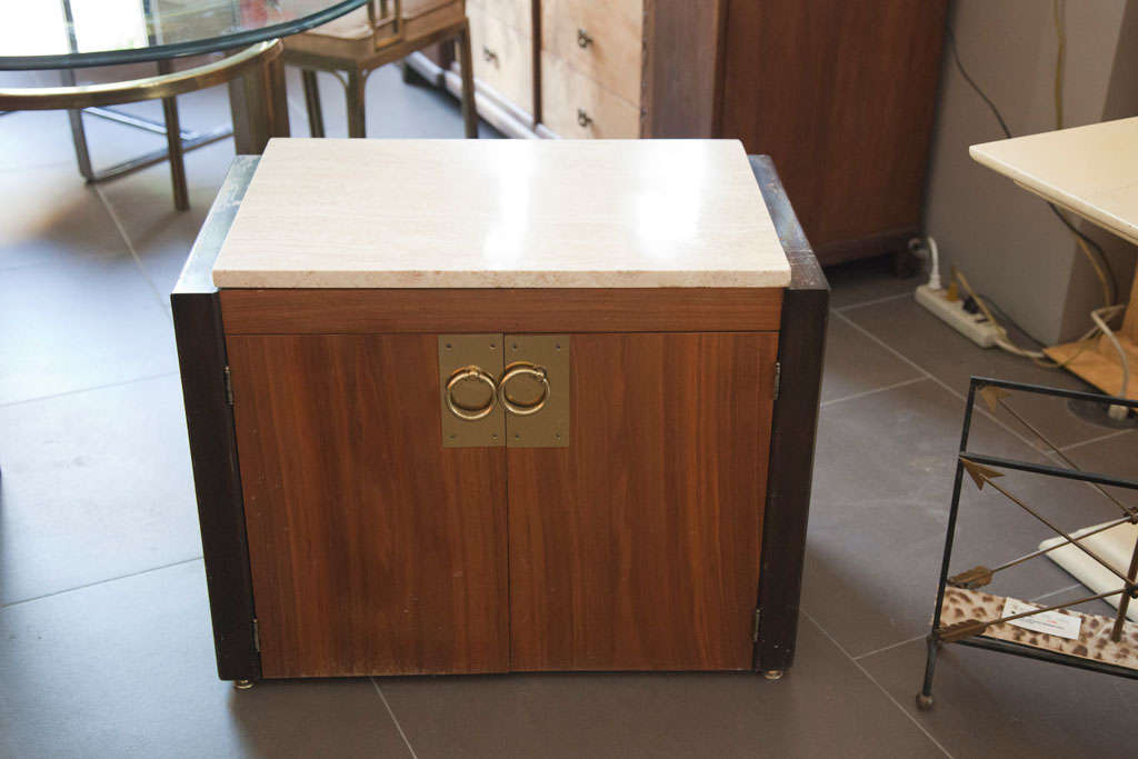 Pair of End Tables with Marble Tops For Sale 3