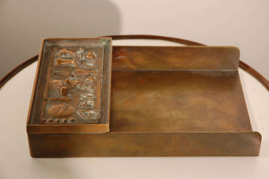 Arnaldo Pomodoro Unsigned Rare Letter Tray