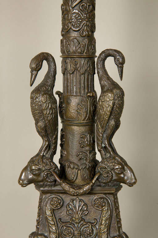 Ormolu Pair of Gilt Bronze Candlesticks For Sale
