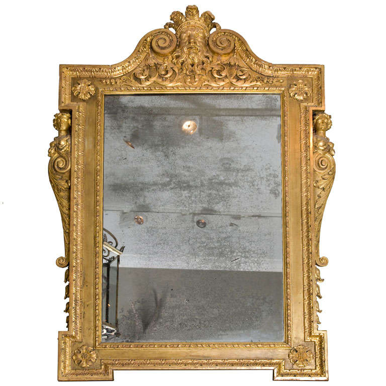 A George II Carved gilt Wood Pier Mirror