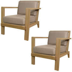 Pair of Arm Chairs by Rene Gabriel